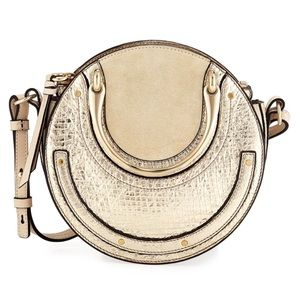 NWT Chloe Pixie Mini Metallic Crossbody Bag